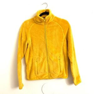 📌 Forever21 Mustard Teddy Zip-Up Jacket
